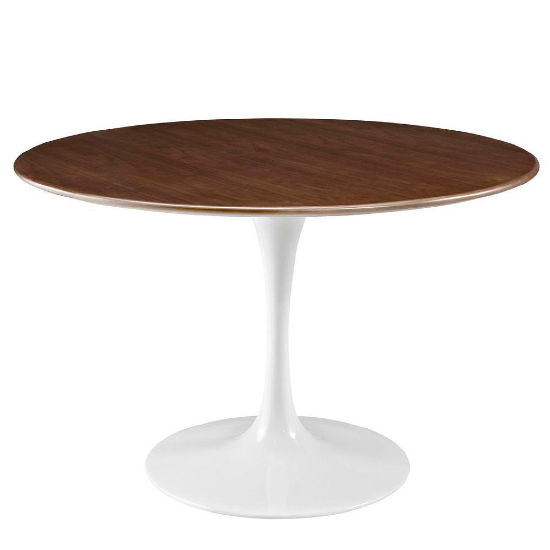 Modway Lippa Round Walnut Dining Table - image-6