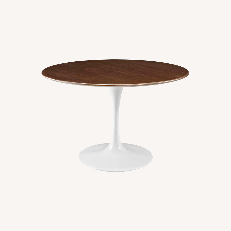 Modway Lippa Round Walnut Dining Table - image-0