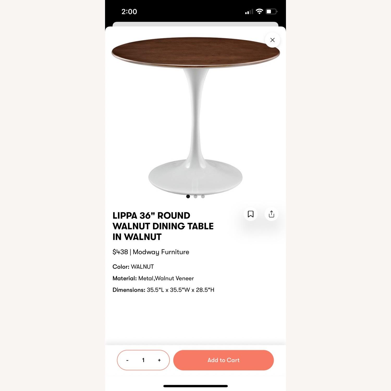 Modway Lippa Round Walnut Dining Table - image-5