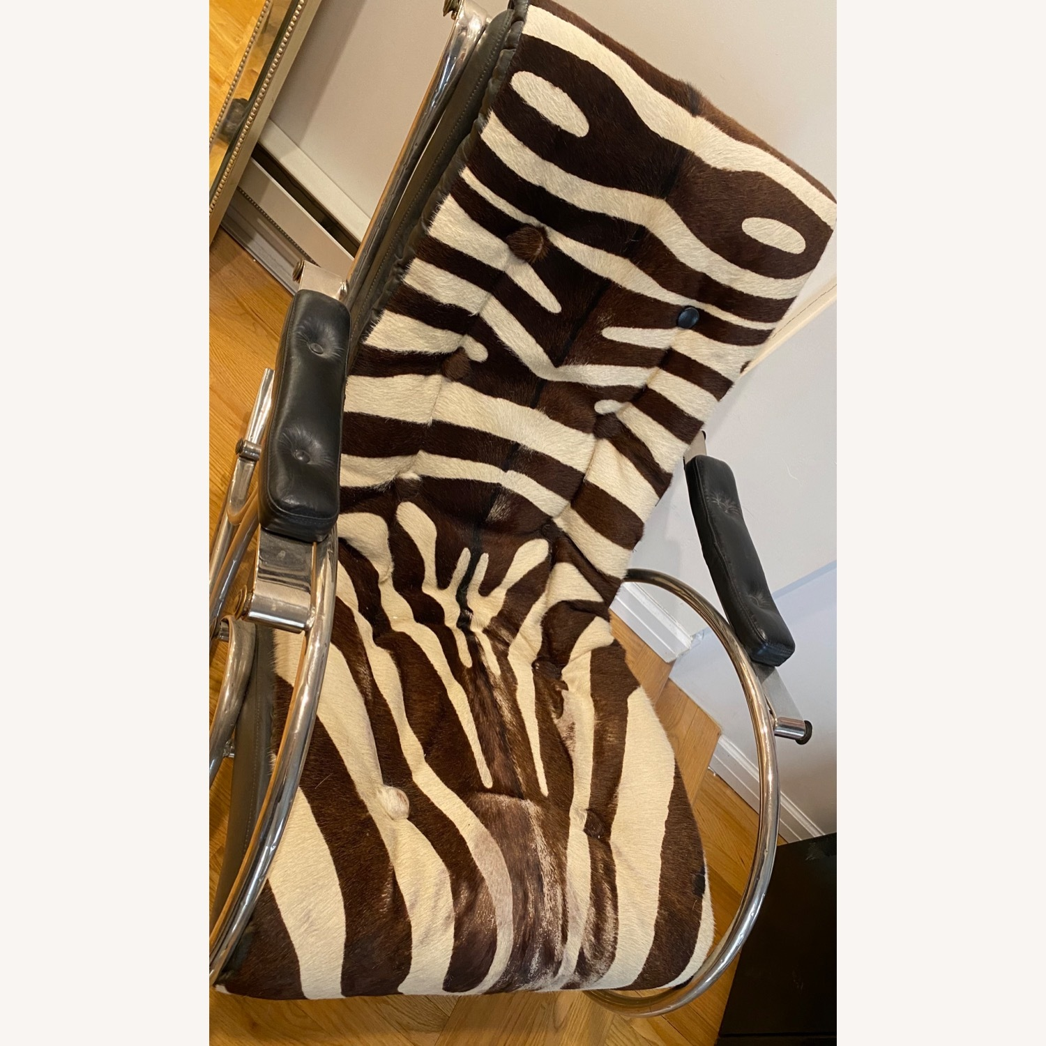 Vintage Zebra Rocking Chair - image-3