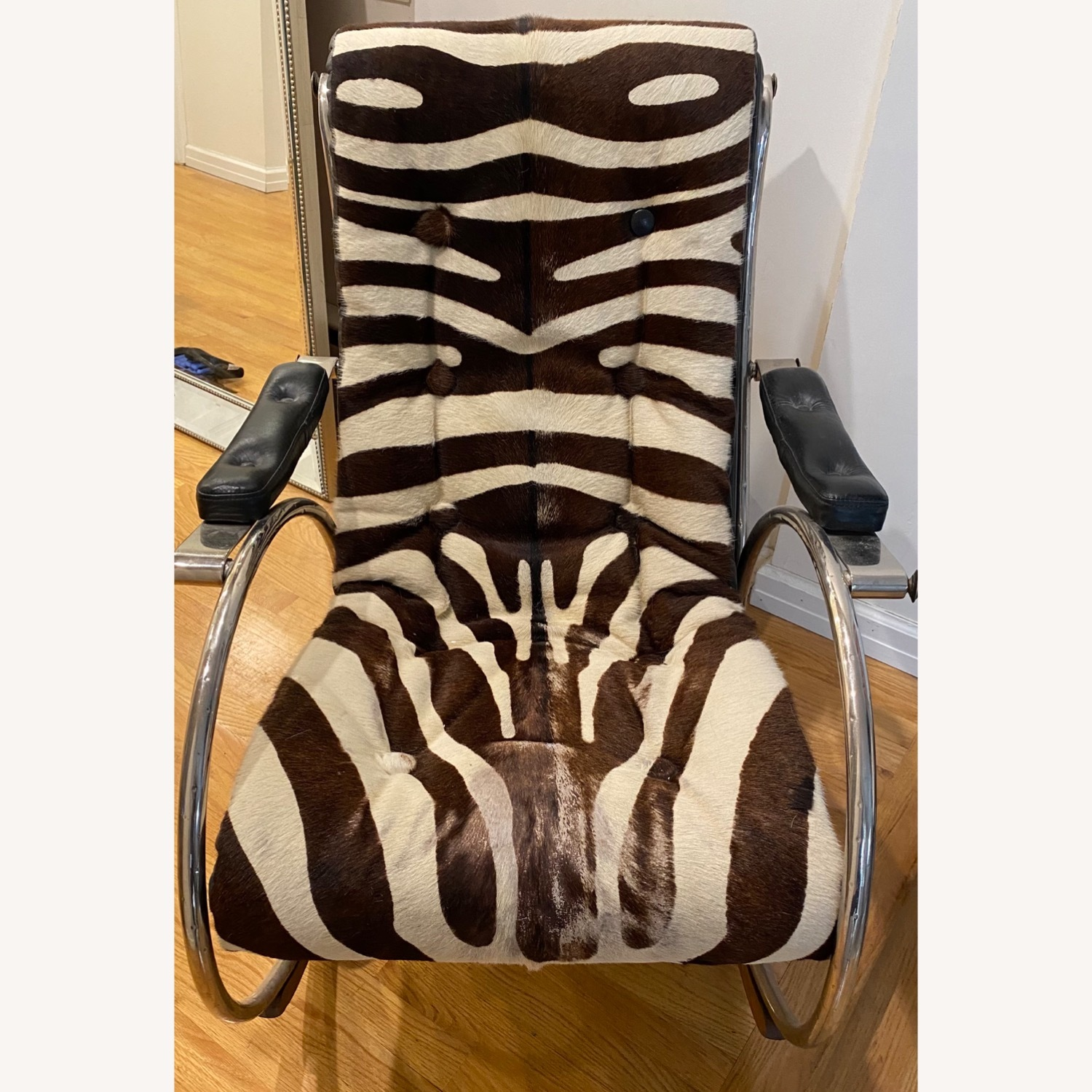 Vintage Zebra Rocking Chair - image-2
