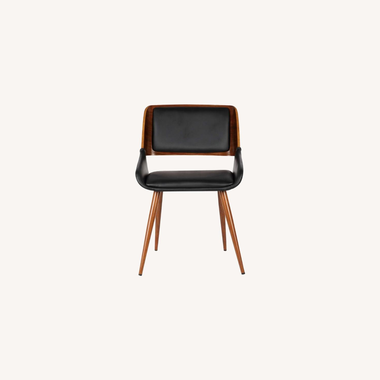 Mid Century Modern Faux Leather Dining Chair - image-0