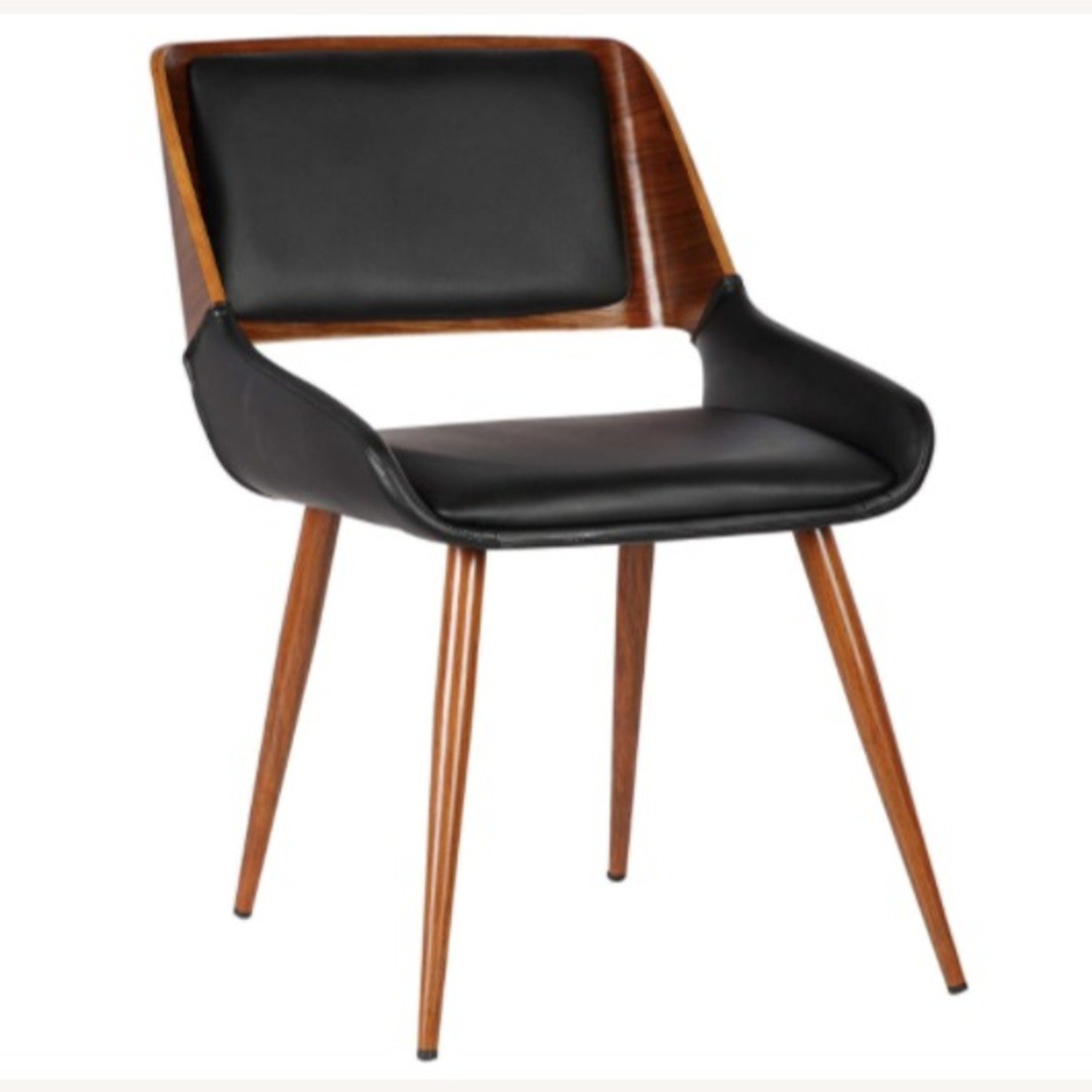 Mid Century Modern Faux Leather Dining Chair - image-1