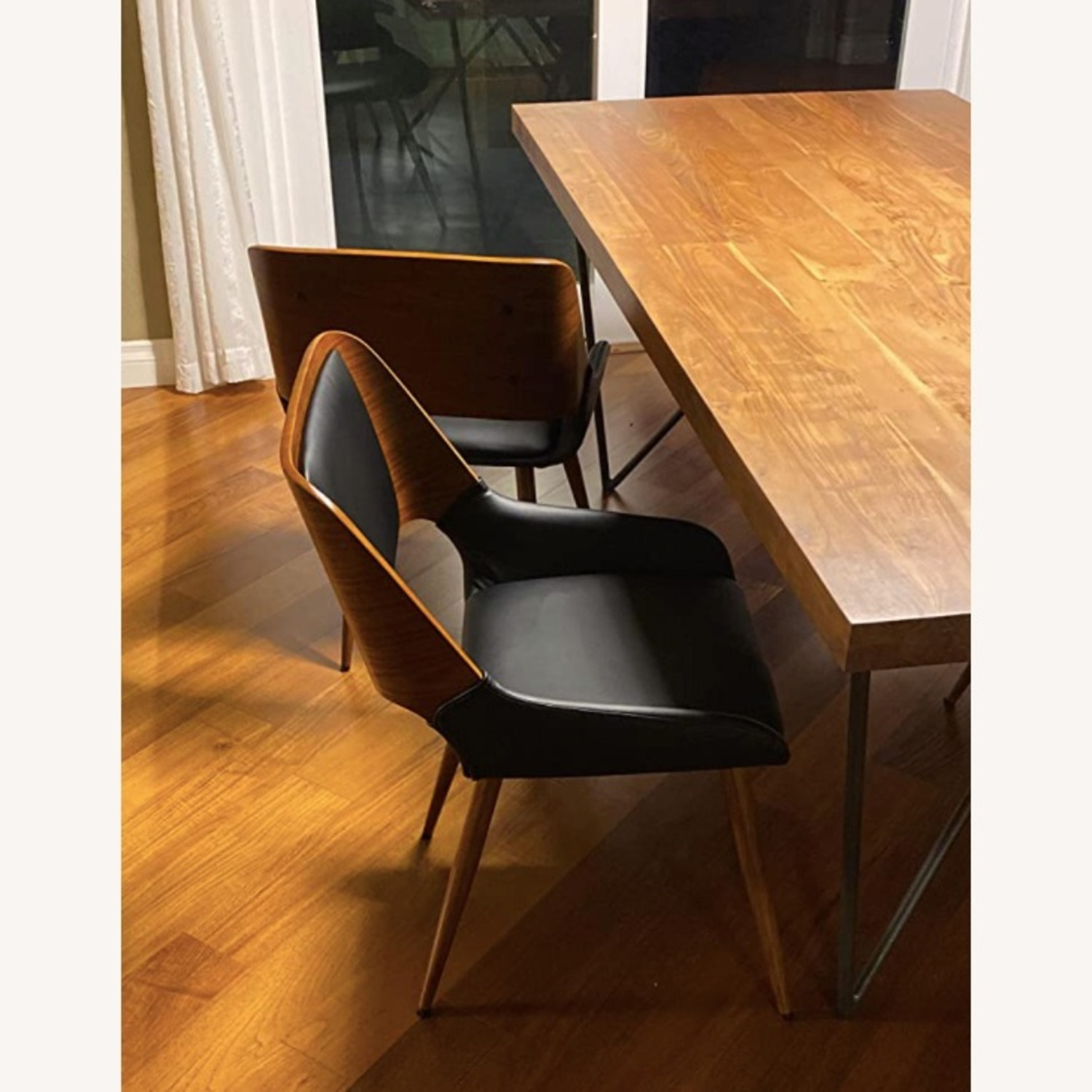 Mid Century Modern Faux Leather Dining Chair - image-5