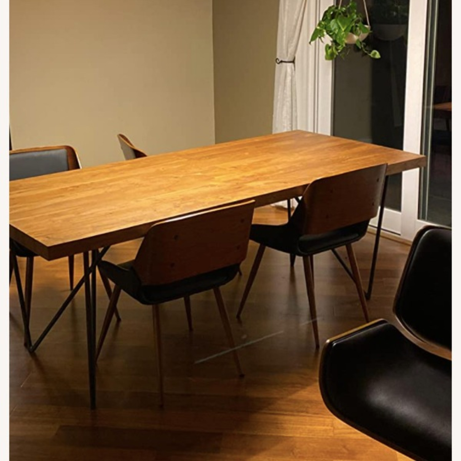 Mid Century Modern Faux Leather Dining Chair - image-7
