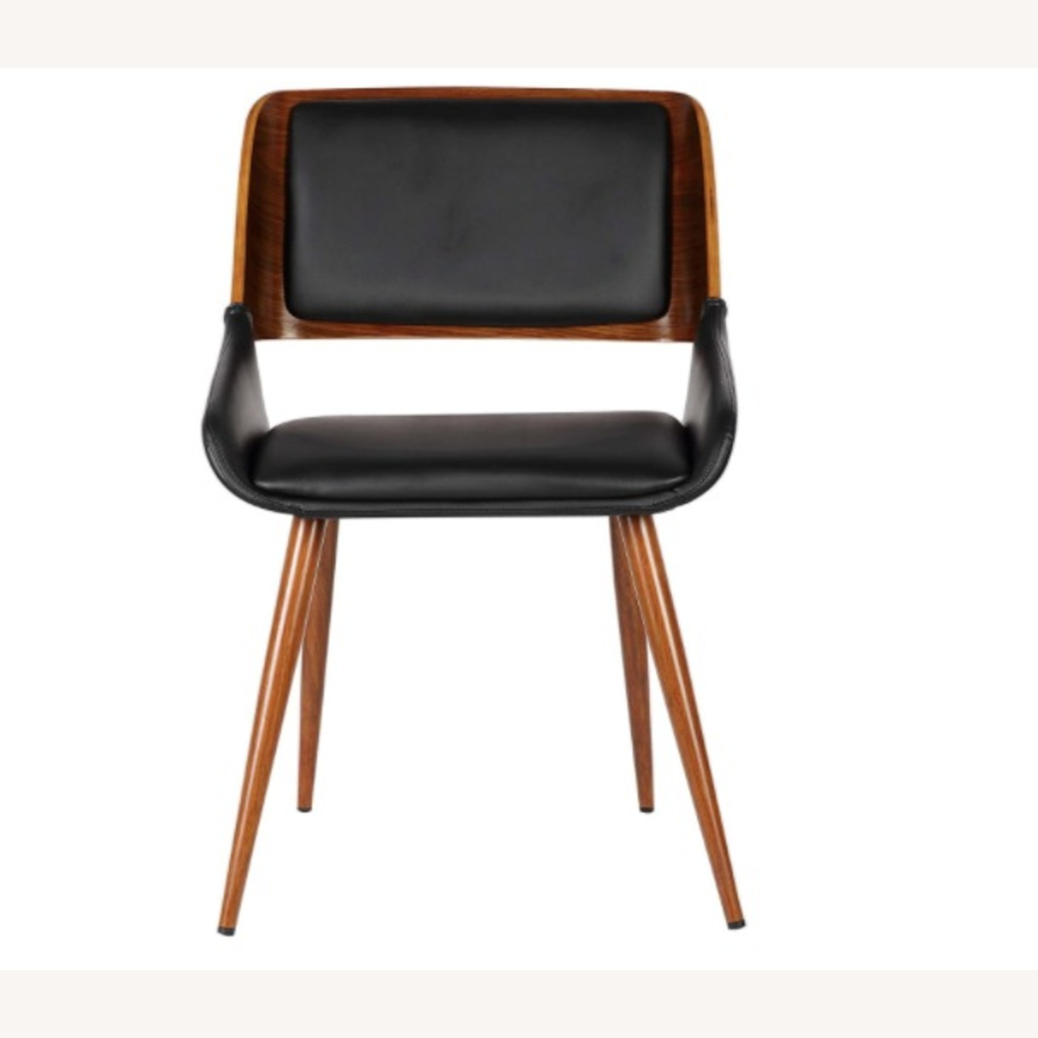 Mid Century Modern Faux Leather Dining Chair - image-2