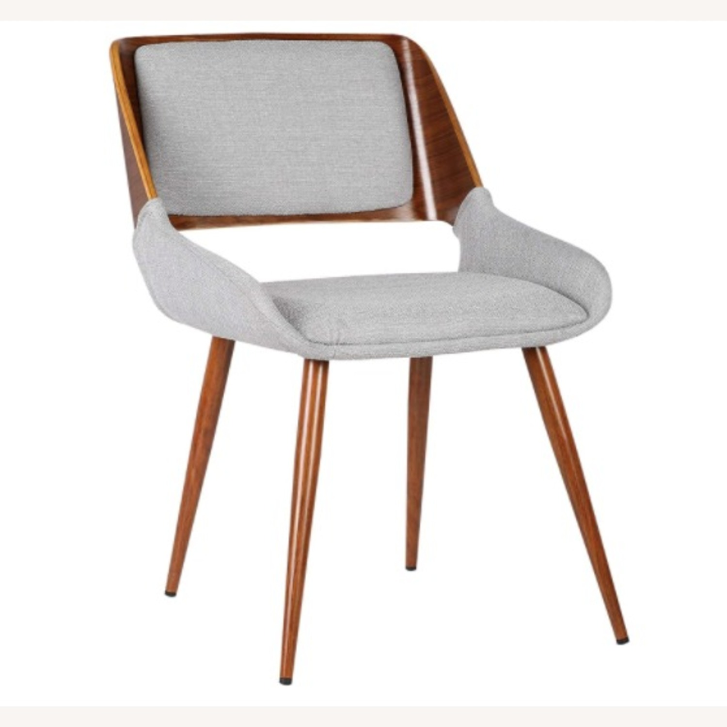 Mid Century Modern Wooden Grey Dining Chair - image-1