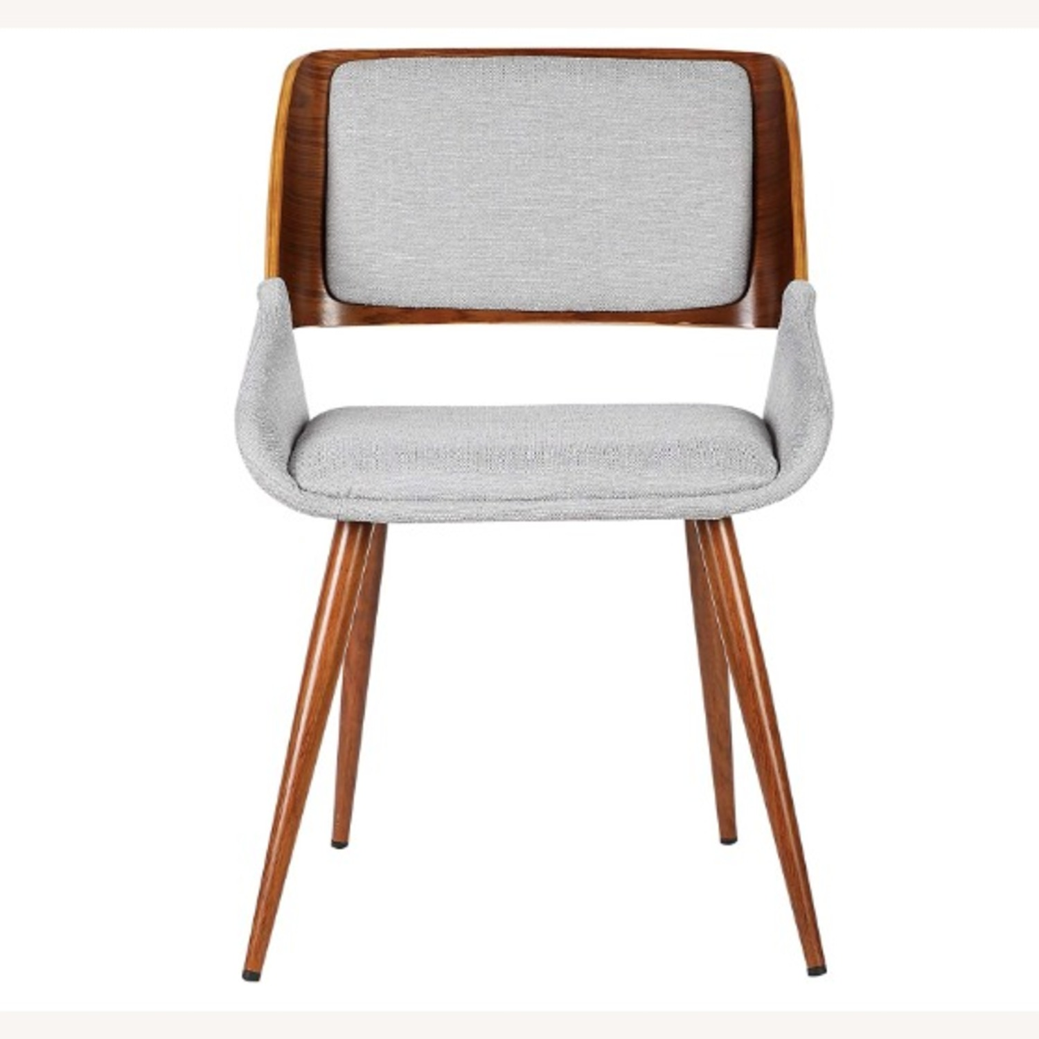 Mid Century Modern Wooden Grey Dining Chair - image-2