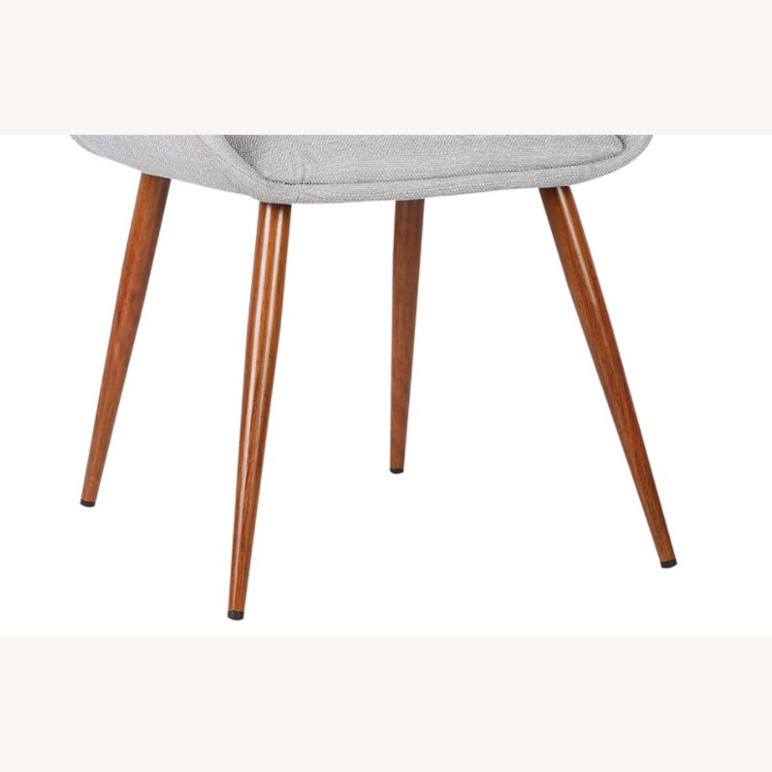 Mid Century Modern Wooden Grey Dining Chair - image-3