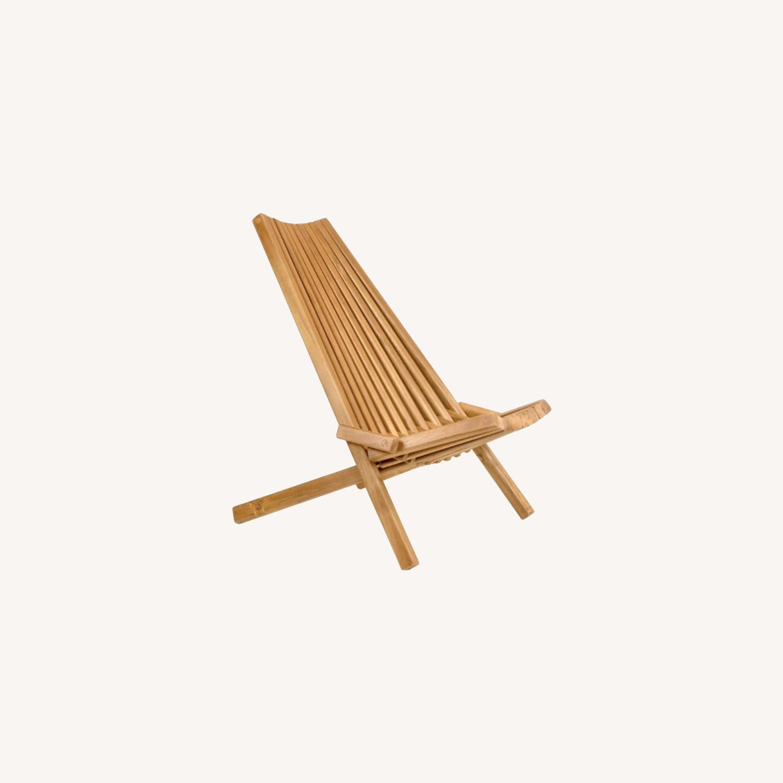 Modern Boho Outdoor Indoor Wood Lounge Chair - image-0