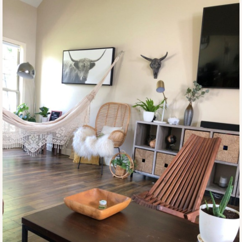 Modern Boho Outdoor Indoor Wood Lounge Chair - image-3