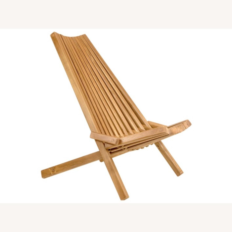 Modern Boho Outdoor Indoor Wood Lounge Chair - image-1