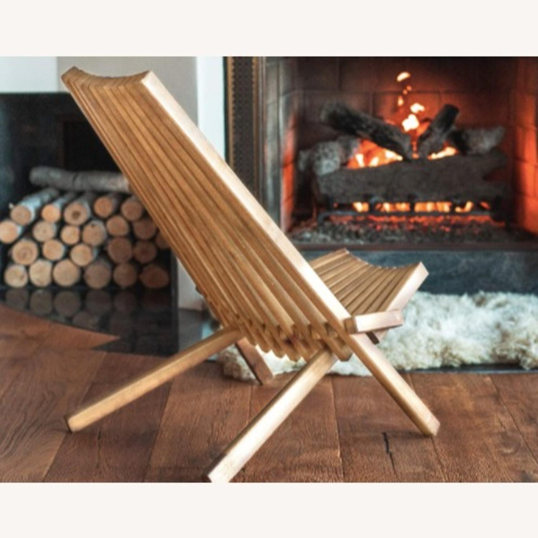 Modern Boho Outdoor Indoor Wood Lounge Chair - image-2
