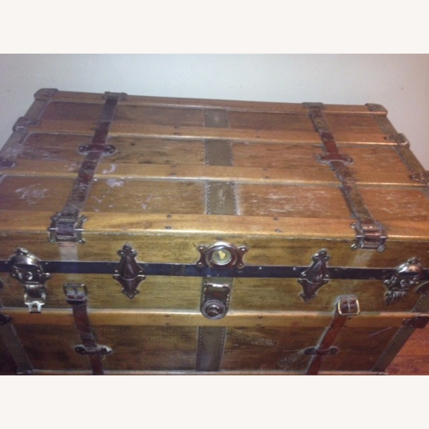 Refinished Decorated Antique Trunk - image-3