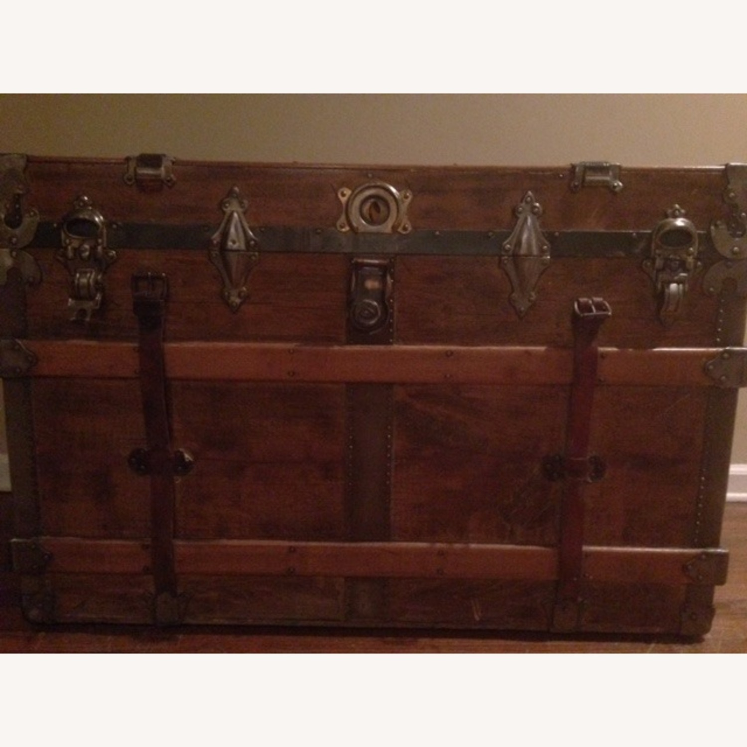 Refinished Decorated Antique Trunk - image-1