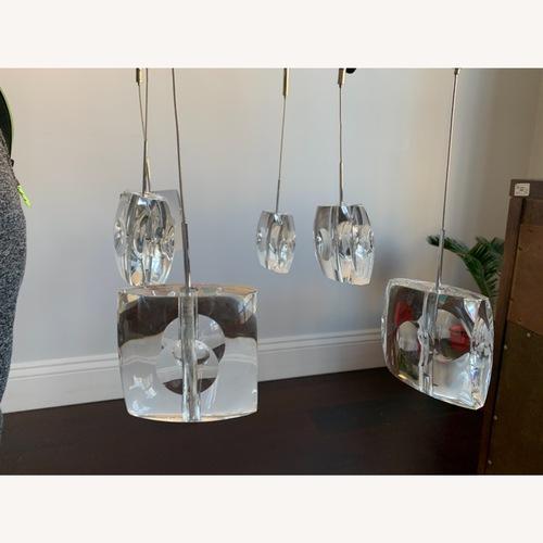 Used Lees Art Shop Ice Pendant Chandelier for sale on AptDeco