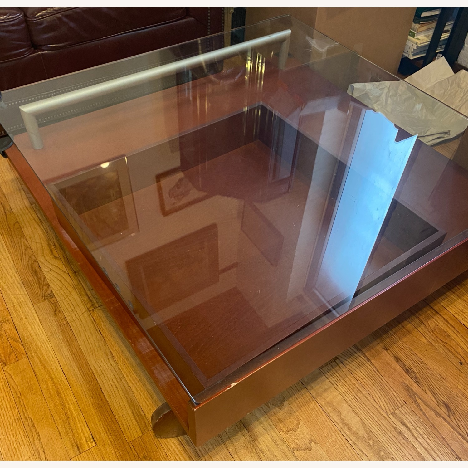 Danish Style Coffee Table with Storage - image-2