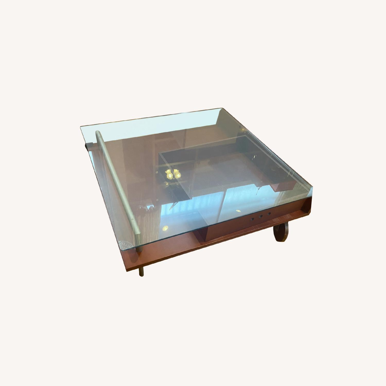 Danish Style Coffee Table with Storage - image-0