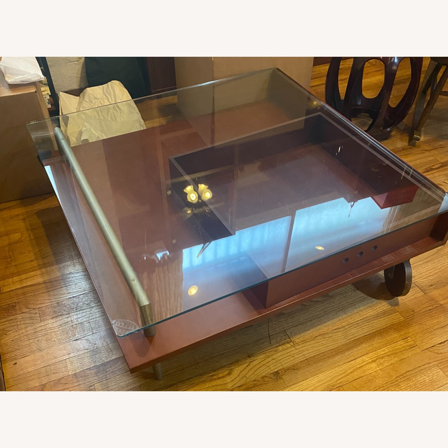 Danish Style Coffee Table with Storage - image-3