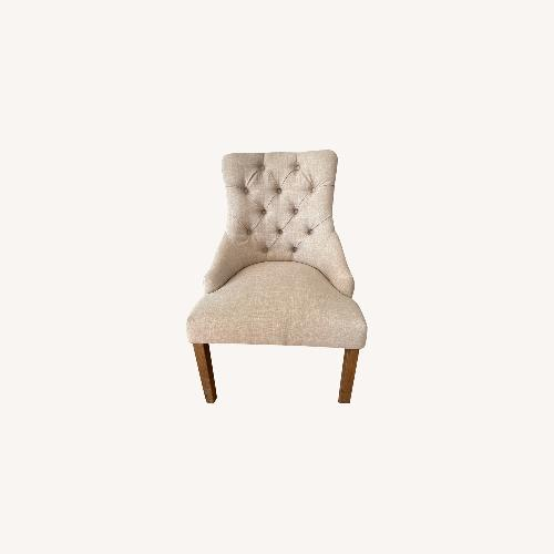 Used InspireQ Beige Tufted Dining Chairs (Set of 4) for sale on AptDeco