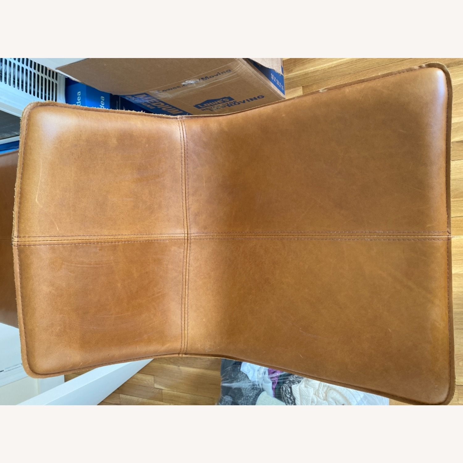West Elm Leather Bar Seats - image-6