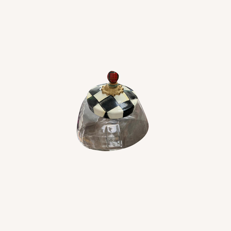 Mackenzie-Childs Jar w/ Courtly Check Enamel Lid - image-4