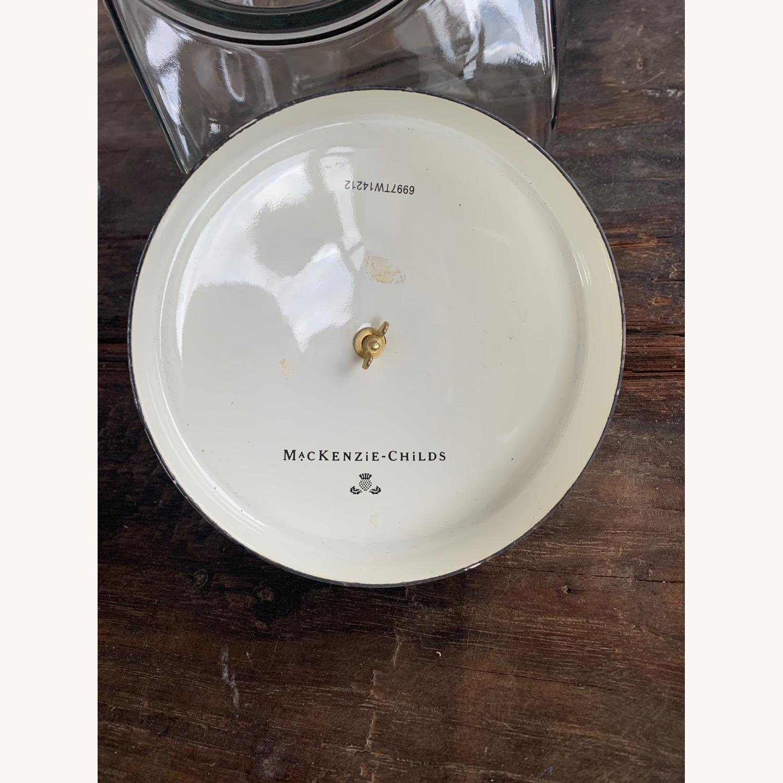 Mackenzie-Childs Jar w/ Courtly Check Enamel Lid - image-3