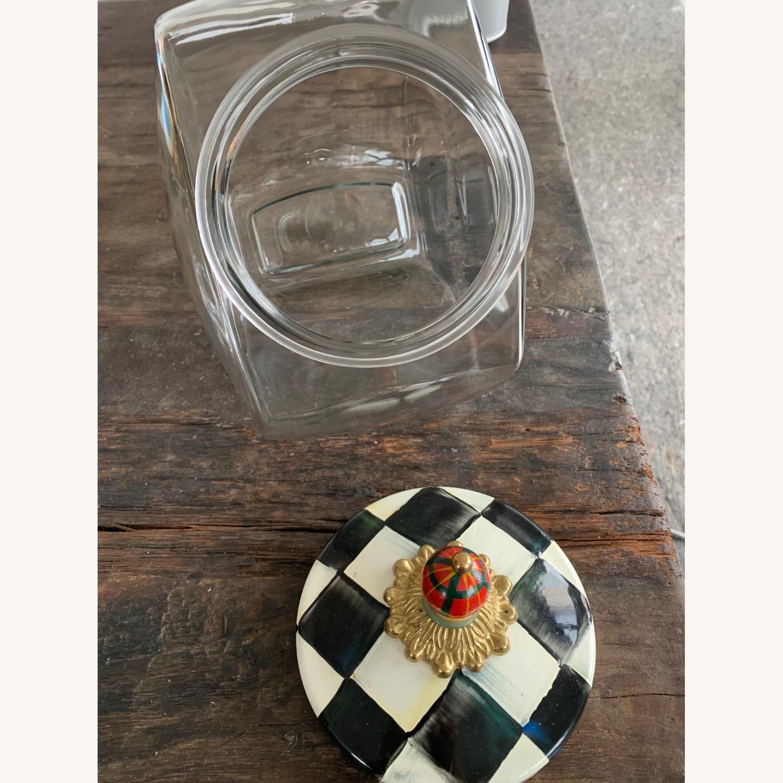 Mackenzie-Childs Jar w/ Courtly Check Enamel Lid - image-1
