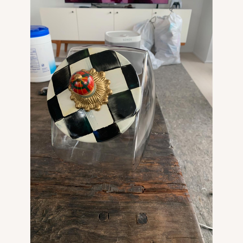 Mackenzie-Childs Jar w/ Courtly Check Enamel Lid - image-2