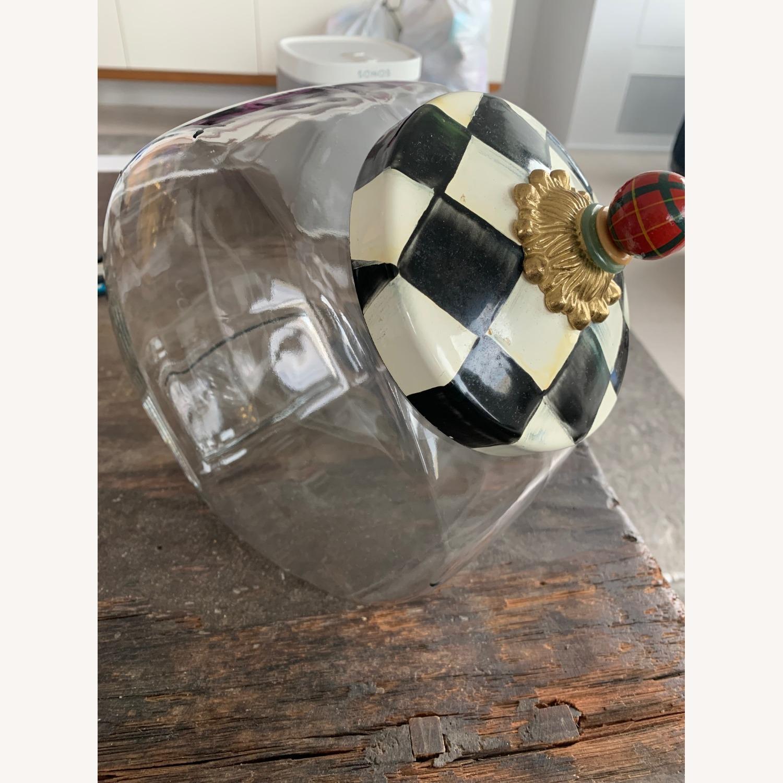 Mackenzie-Childs Jar w/ Courtly Check Enamel Lid - image-0