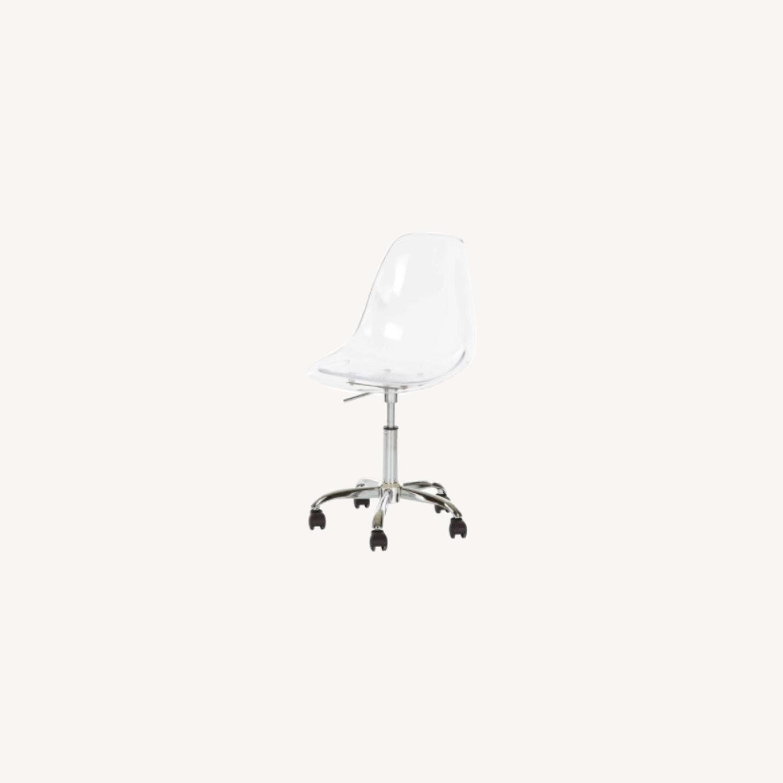 Mid Century Acrylic Desk Chair - image-0