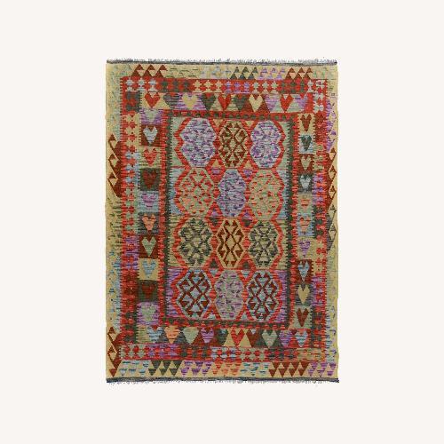 Used Vintage wool kilim Rug 5'0 X 6'8 for sale on AptDeco