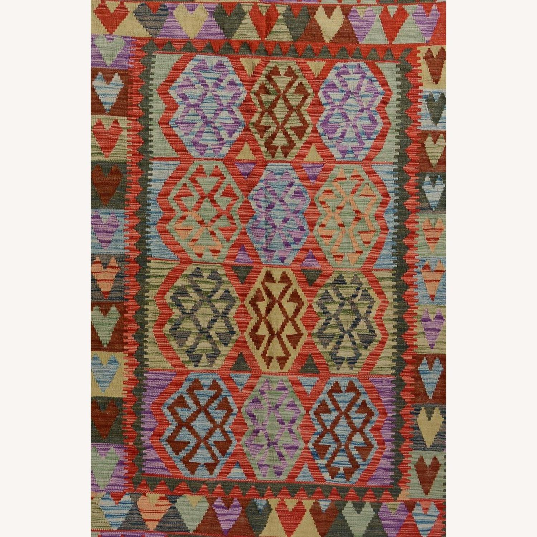 Vintage wool kilim Rug 5'0 X 6'8 - image-3