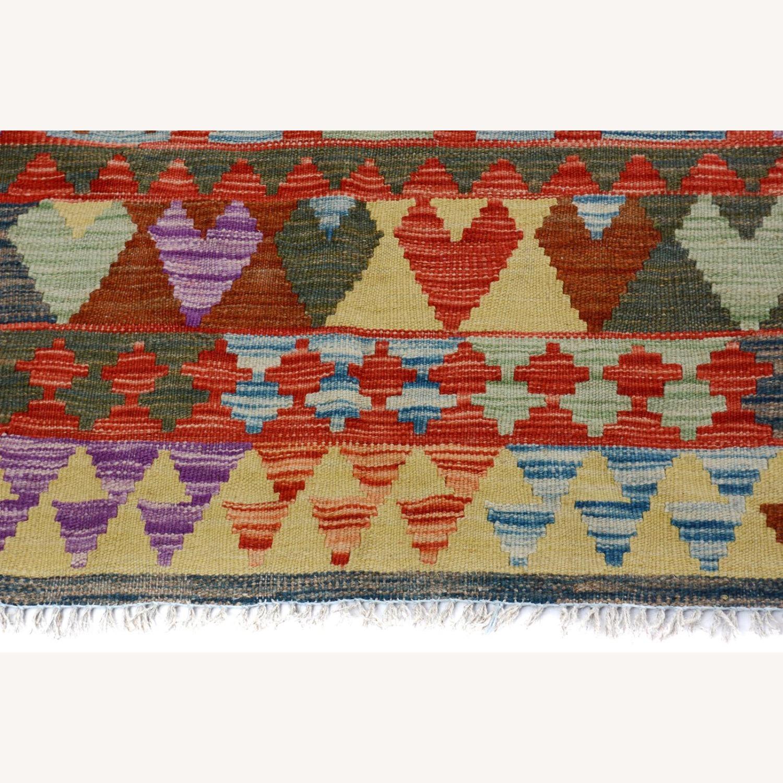 Vintage wool kilim Rug 5'0 X 6'8 - image-5