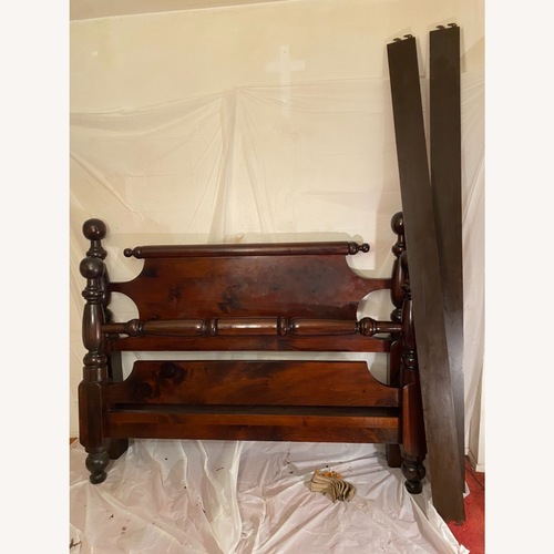 Used Heywood Wakefield Cherry Wood Colonial Queen Bed for sale on AptDeco
