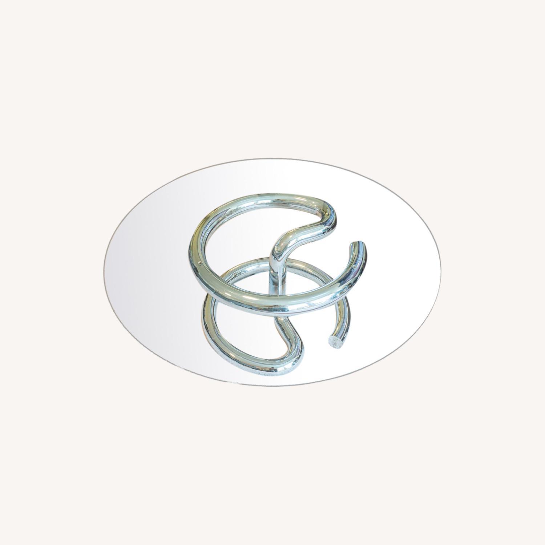 Paul Tuttle Anaconda Glass Chrome Coffee Table - image-5