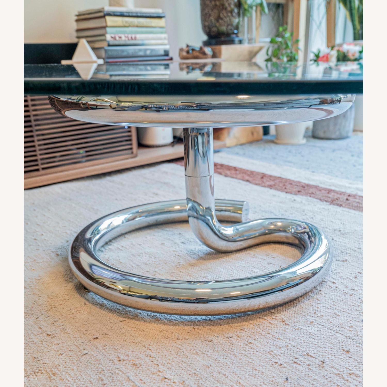 Paul Tuttle Anaconda Glass Chrome Coffee Table - image-2