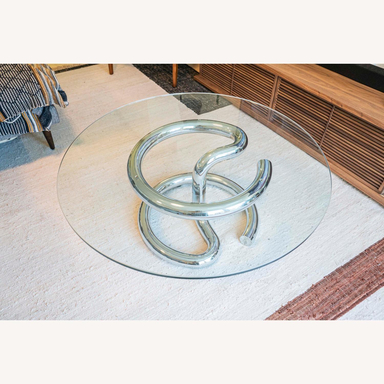 Paul Tuttle Anaconda Glass Chrome Coffee Table - image-1