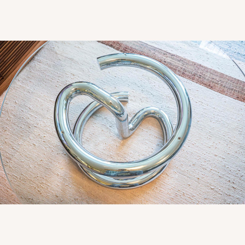 Paul Tuttle Anaconda Glass Chrome Coffee Table - image-3