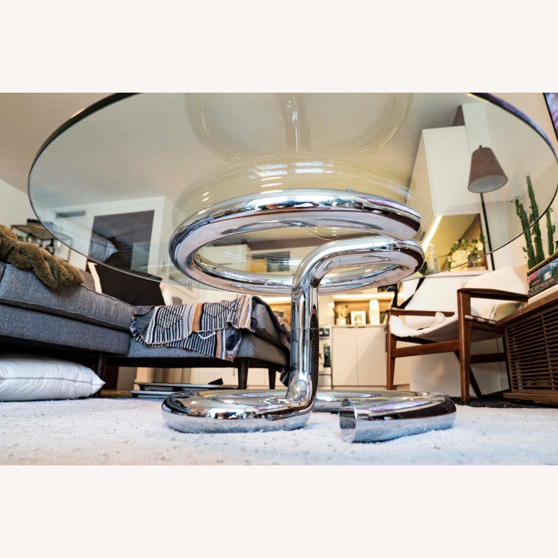 Paul Tuttle Anaconda Glass Chrome Coffee Table - image-4