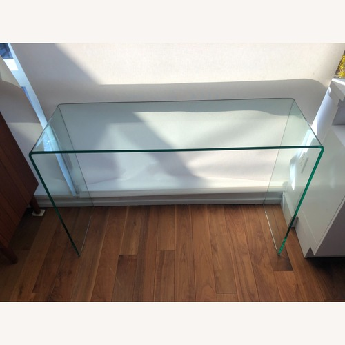 Used One King's Lane Rectangle Glass Console Table for sale on AptDeco