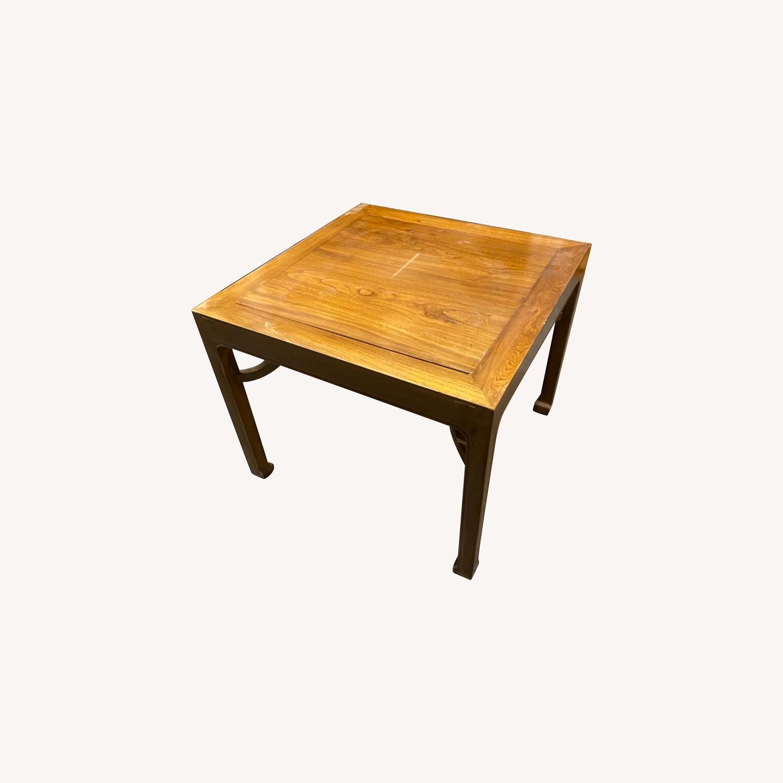 Handmade Custom Chinese Elm Wood Coffee Table - image-0