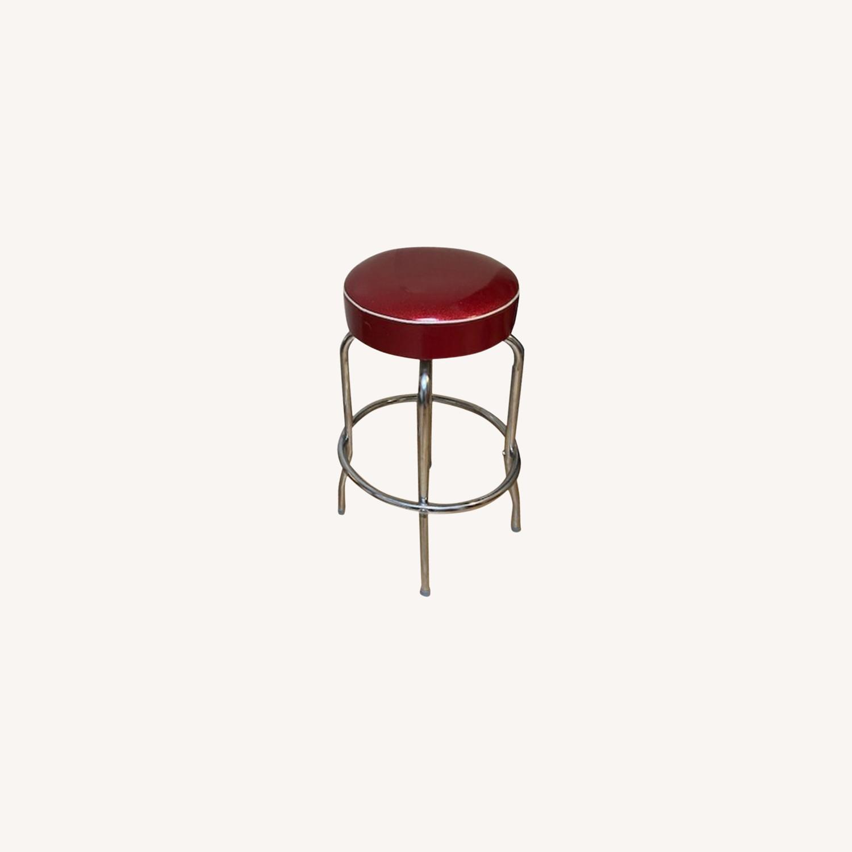 Richardson Seating Corp Retro Red Barstools - image-0