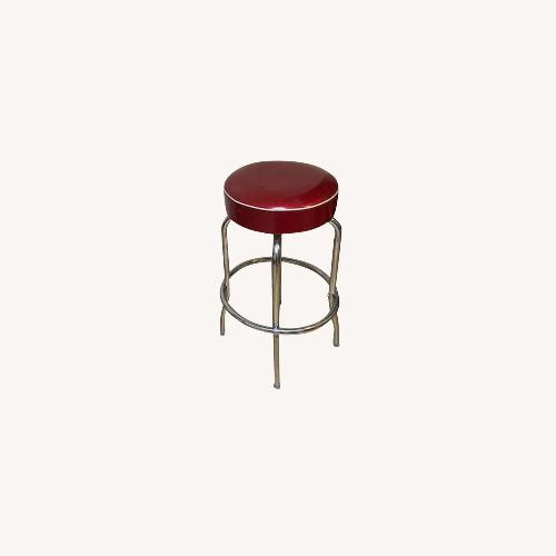 Used Richardson Seating Corp Retro Red Barstools for sale on AptDeco