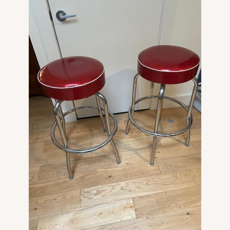 Richardson Seating Corp Retro Red Barstools - image-1
