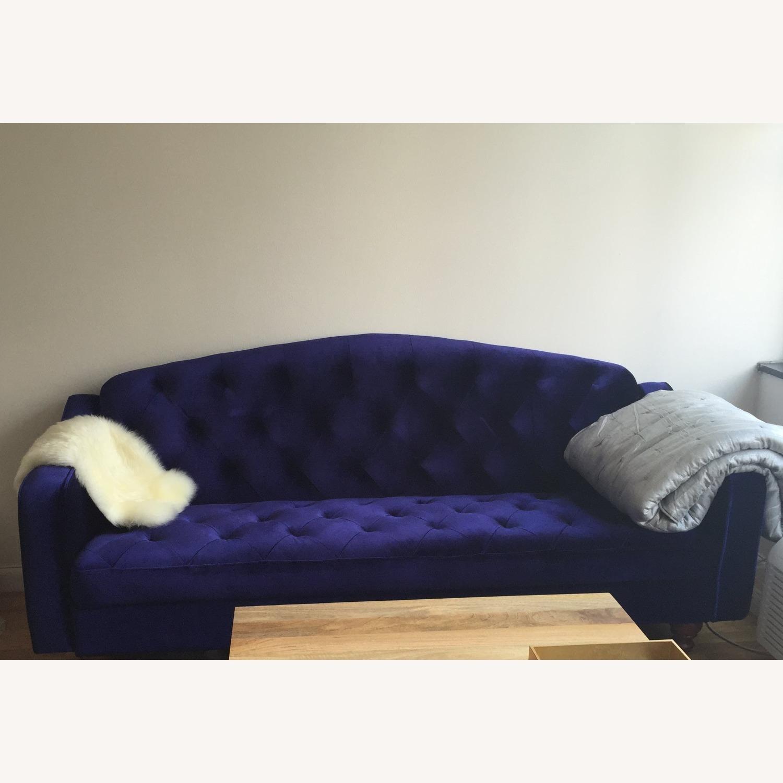 Urban Outfitters Velvet Tufted Sleeper Sofa - image-3