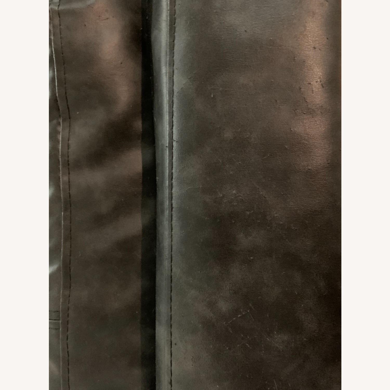Black Faux Leather Sleeper Sofa - image-6