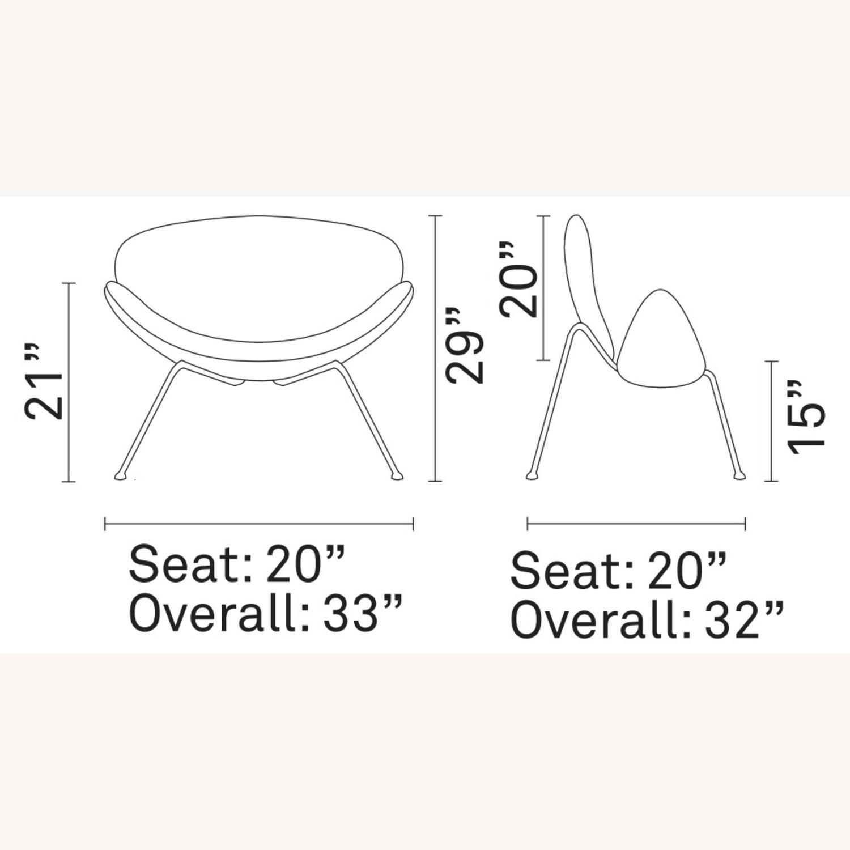Mid-Century Modern Accent Chair In Orange - image-4