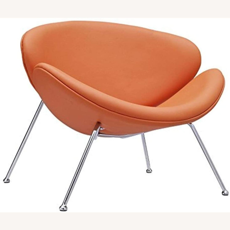 Mid-Century Modern Accent Chair In Orange - image-0