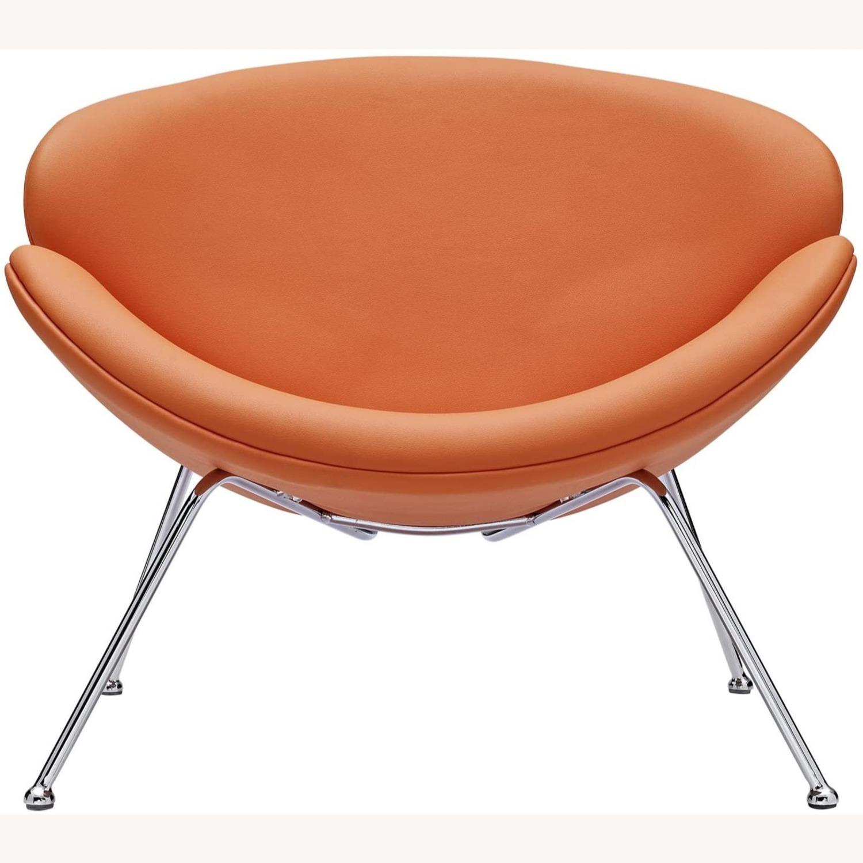 Mid-Century Modern Accent Chair In Orange - image-2